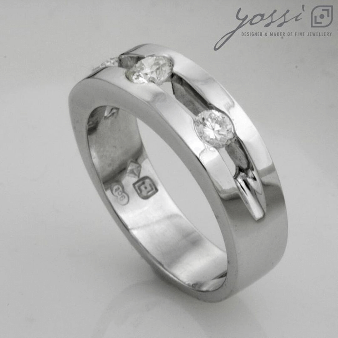Triple Glitter Engagement Ring 7