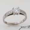 Coiled Diamond Engagement Ring 1