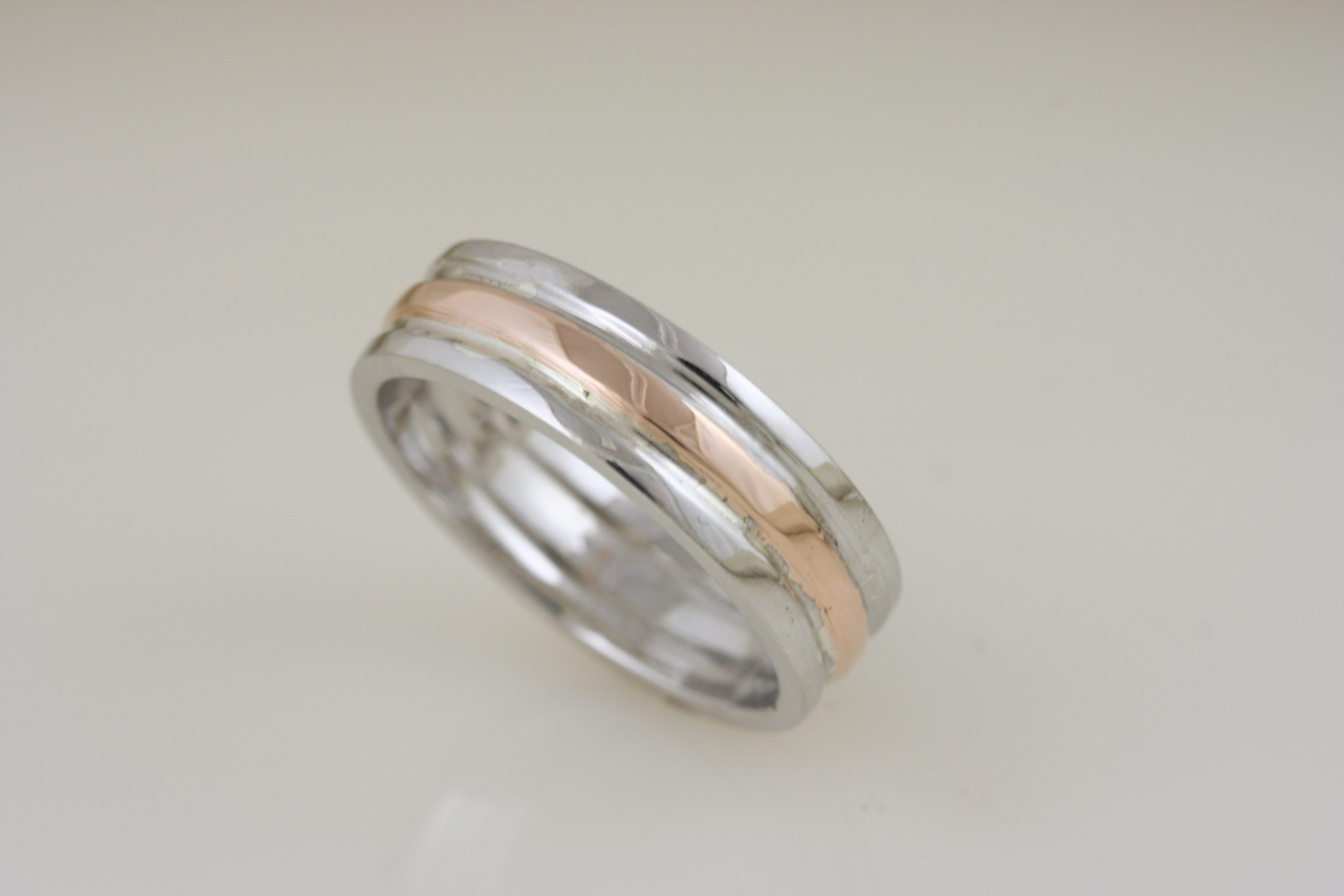 Rose Gold & White Gold Custom Trinity Band 5