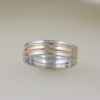 Rose Gold & White Gold Custom Trinity Band