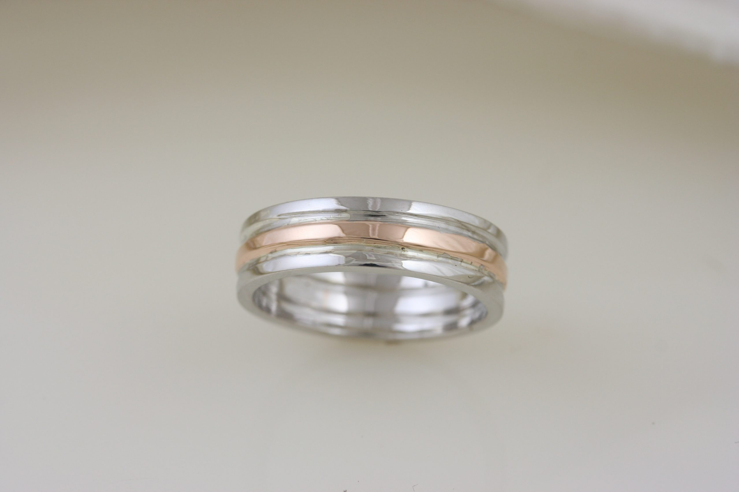 Rose Gold & White Gold Custom Trinity Band 4