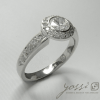 Diamond Ornament Halo Ring 2