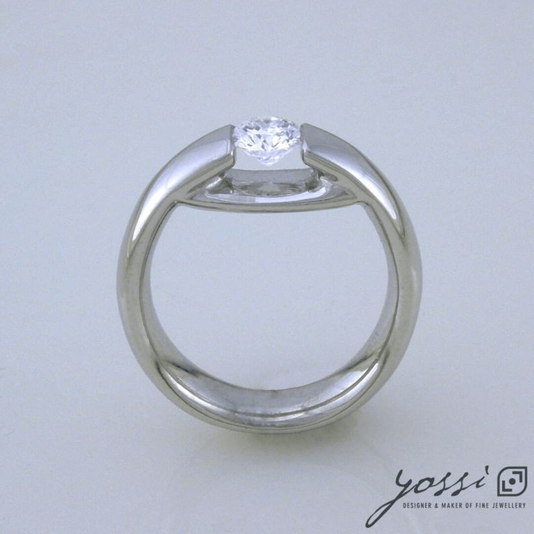 Contemporary Diamond Engagement Ring 4
