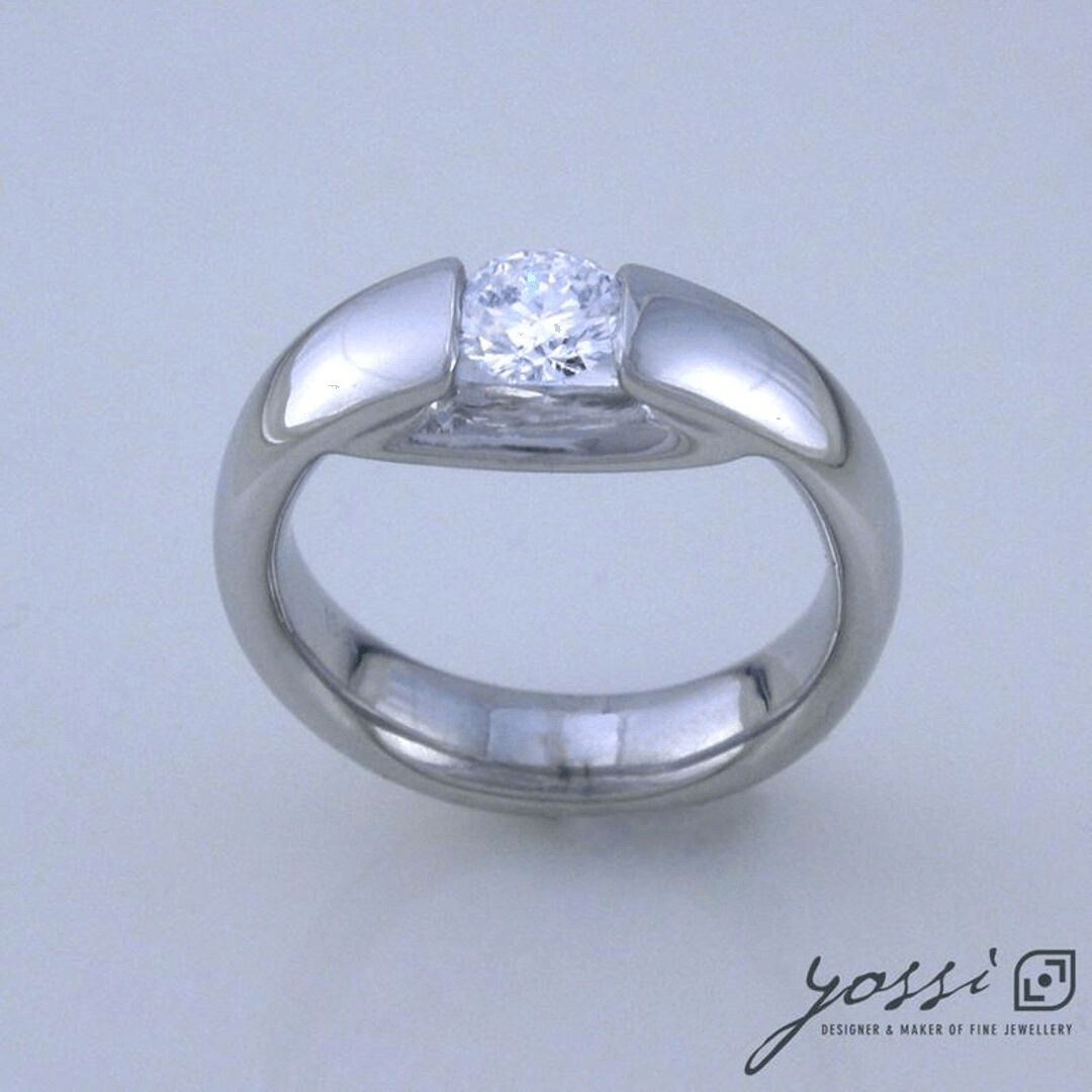 Contemporary Diamond Engagement Ring 3