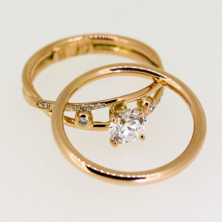 Sleek Four-Prong Diamond Ring