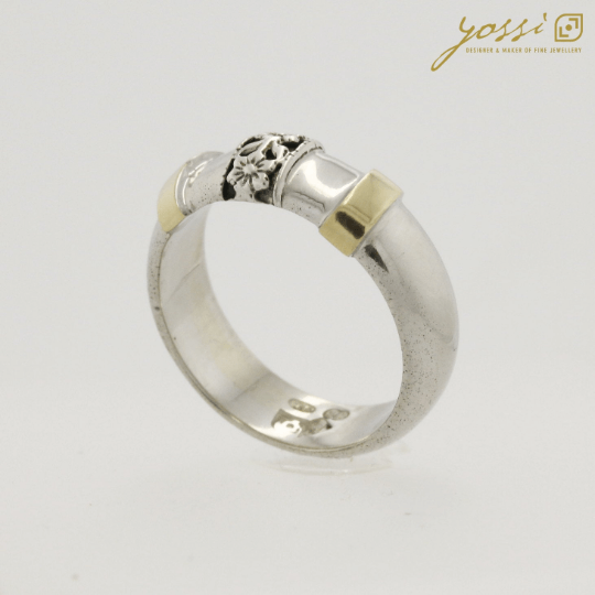 Decorative Silver & Gold Ring 3