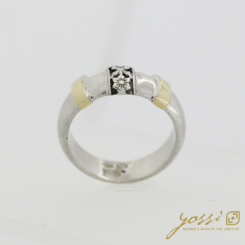 Decorative Silver & Gold Ring