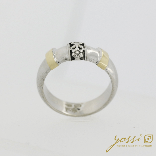 Decorative Silver & Gold Ring 4