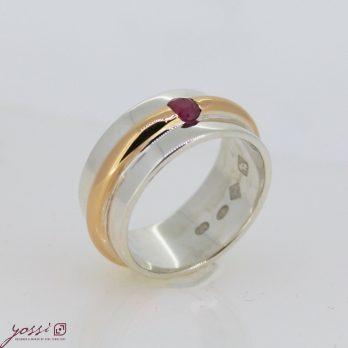 Shimmering Ruby Dress Ring