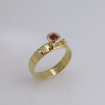 Enchanted Diamond & Ruby Ring
