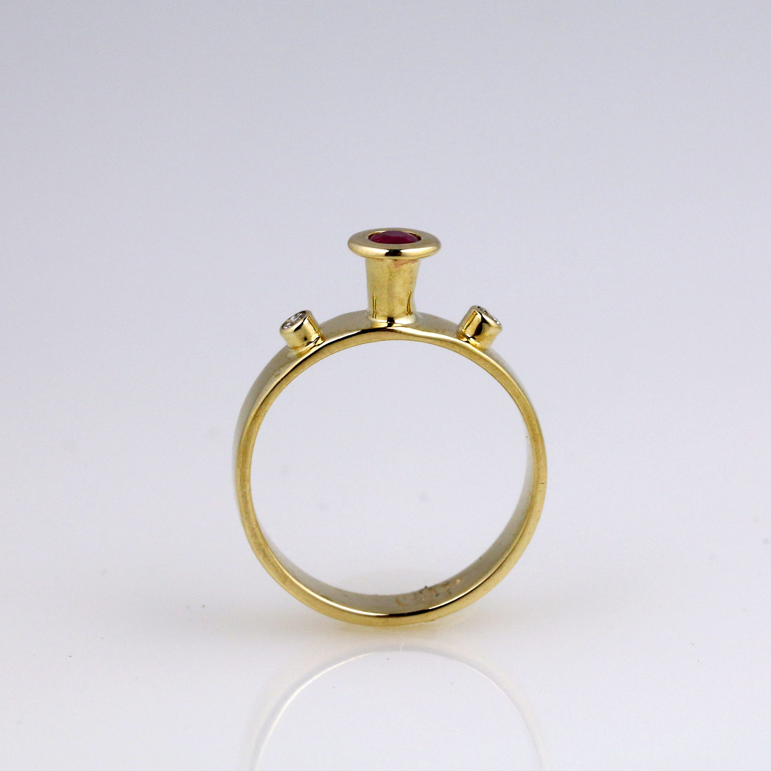 Enchanted Diamond & Ruby Ring 5
