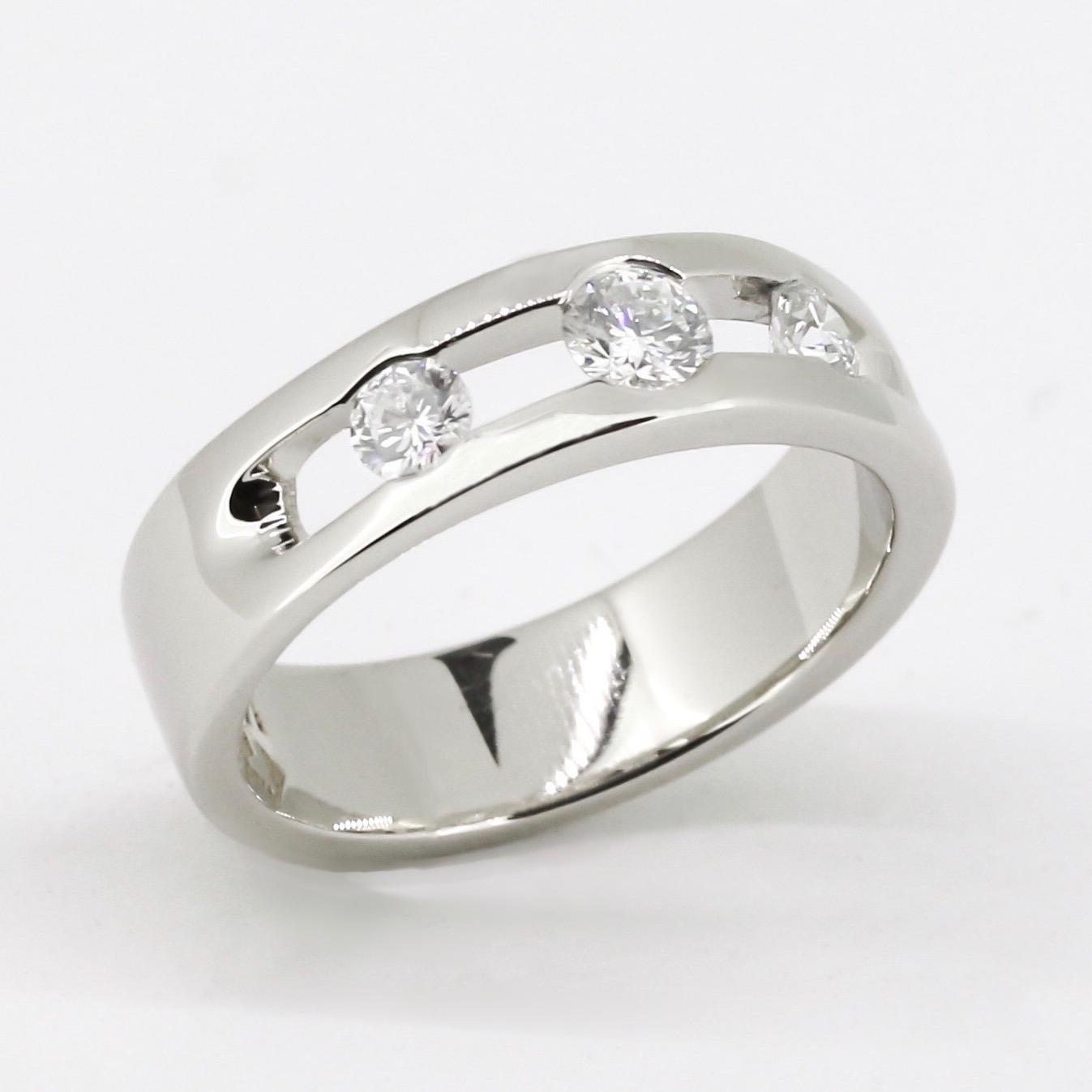 Triple Glitter Engagement Ring 3
