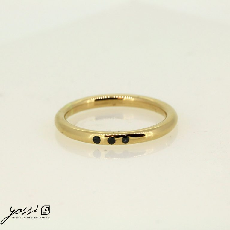 Petite Selene Black Diamond Ring