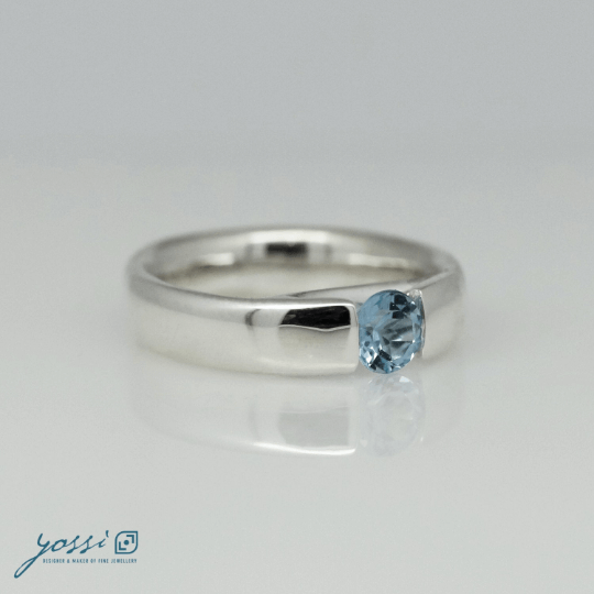 Glowing Blue Topaz Ring 3