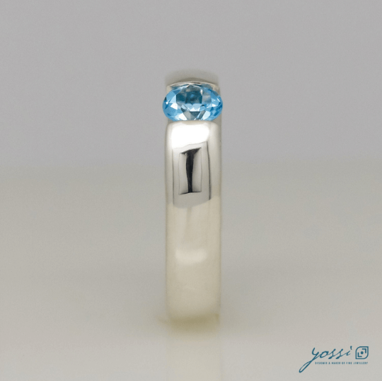 Glowing Blue Topaz Ring 4