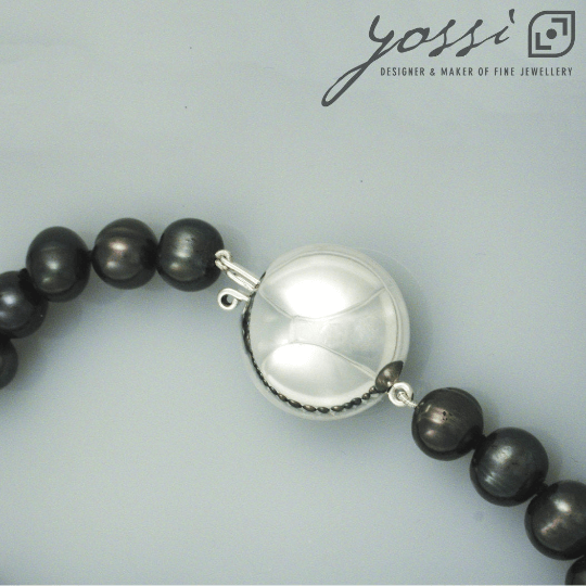 Royal Black Freshwater Pearl Necklace 5