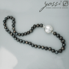 Royal Black Freshwater Pearl Necklace 1