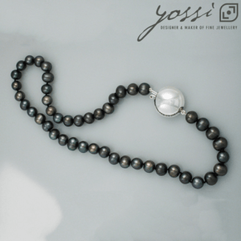Royal Black Freshwater Pearl Necklace