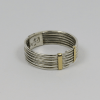 Fine Coiled Silver & Gold Ring 1
