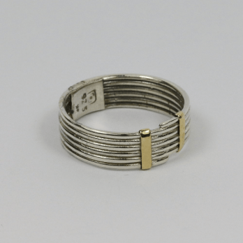 Fine Coiled Silver & Gold Ring
