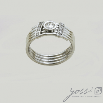 Coiled Diamond Engagement Ring