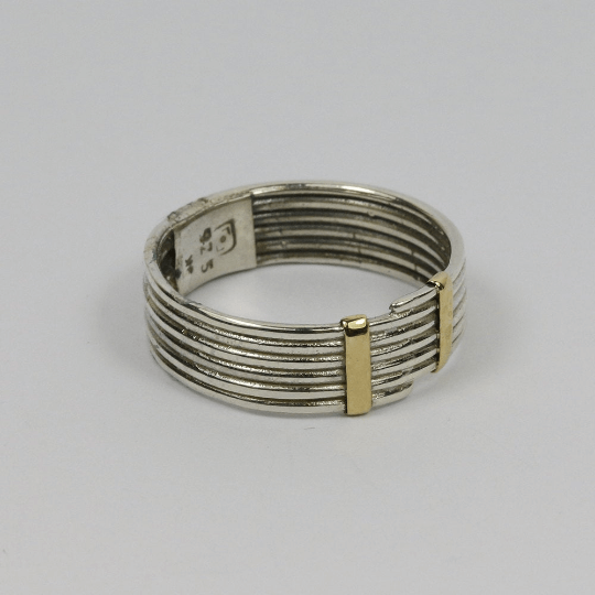 Fine Coiled Silver & Gold Ring 3