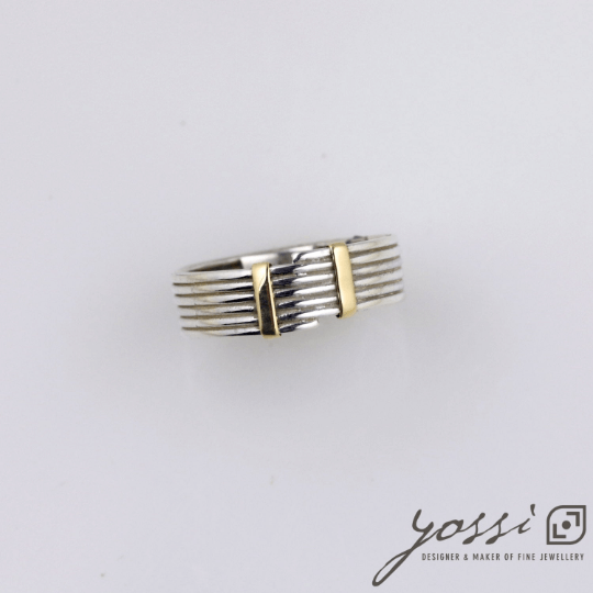 Fine Coiled Silver & Gold Ring 4