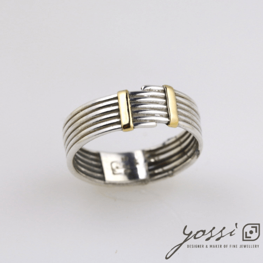 Fine Coiled Silver & Gold Ring 5