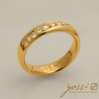 Contemporary Modern Diamond Ring