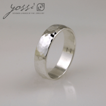 Classic Unity Hammered Finish Ring