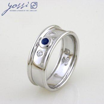 Delicate Ceylon Sapphire & Diamond Ring