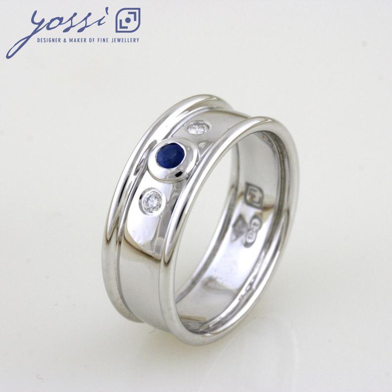 Delicate Ceylon Sapphire & Diamond Ring 3