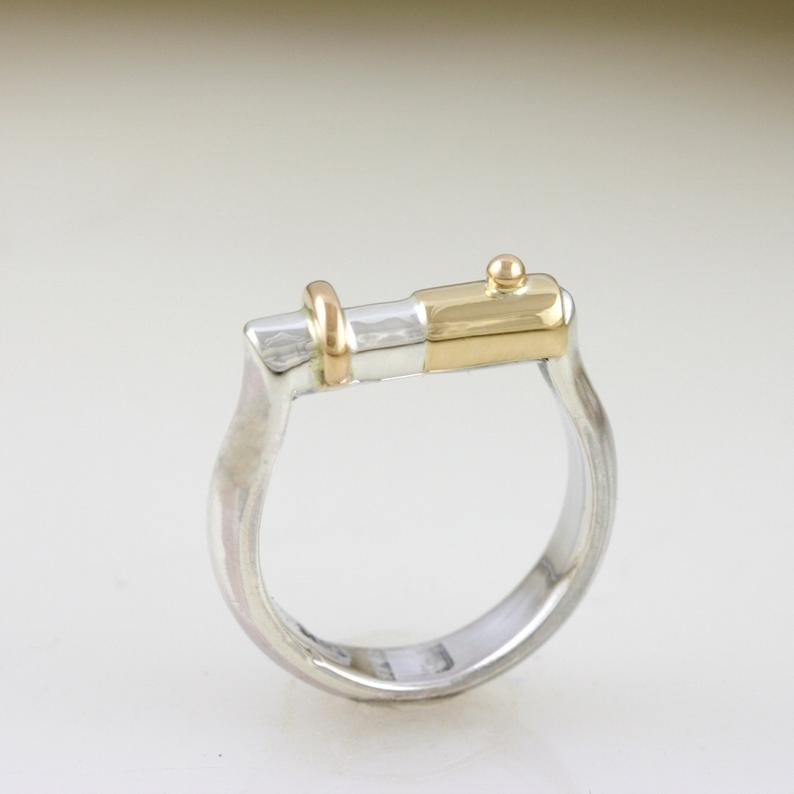 Jointly Gold & Silver Wedding Ring 4