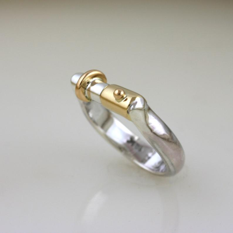 Jointly Gold & Silver Wedding Ring 5