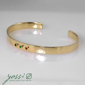 Special Multi-Coloured Hammered Bangle