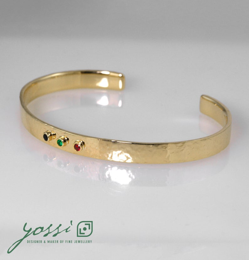 Special Multi-Coloured Hammered Bangle 3