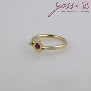 Unusual Ruby & Diamond Dress Ring