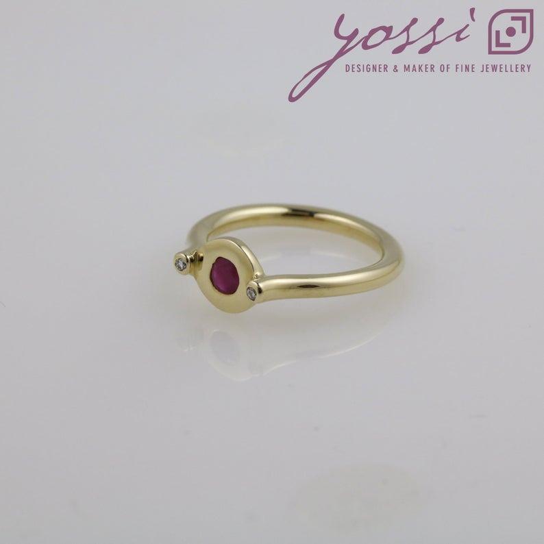 Unusual Ruby & Diamond Dress Ring 4