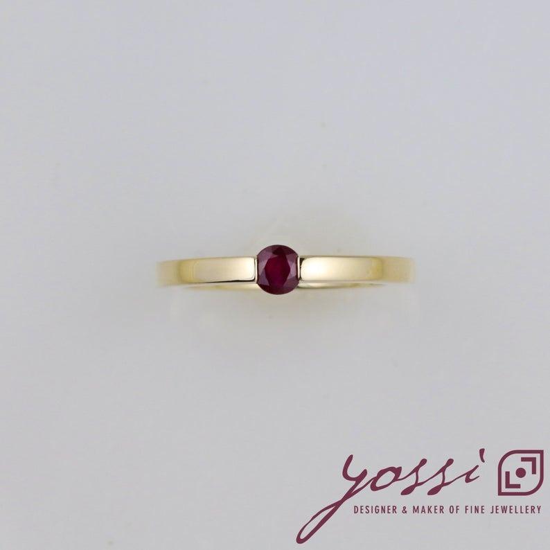 Modern Ruby Dress Ring 6