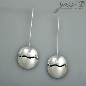 Prestigious Domed Wave Drop Earrings
