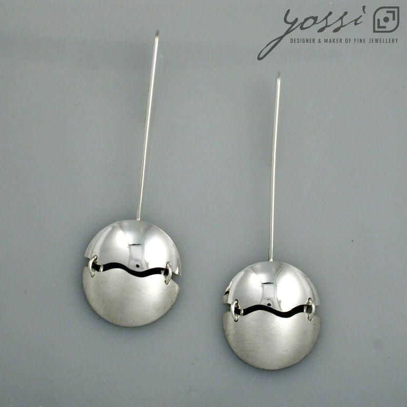Prestigious Domed Wave Drop Earrings 4