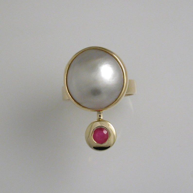 Luxury Pearl & Ruby Ring 6