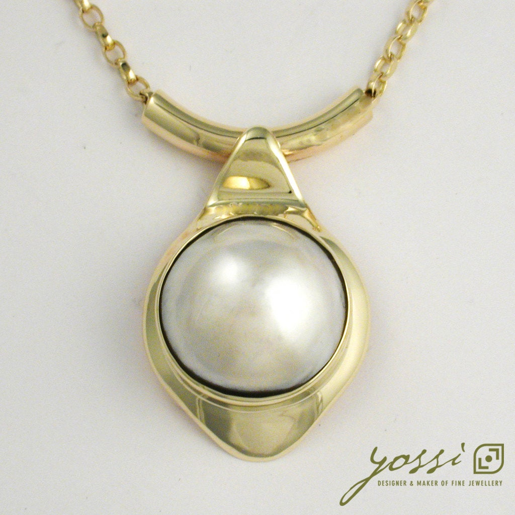 Magnificent Pearl Pendant | 9ct Gold 22