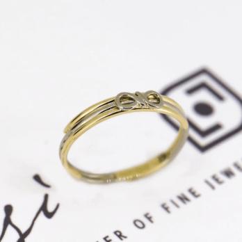 Infinity Friendship Ring | 18ct Yellow, White & Rose Gold