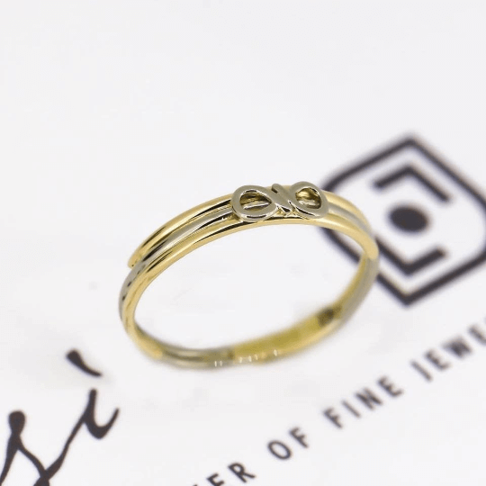 Infinity Friendship Ring | 18ct Yellow, White & Rose Gold 8