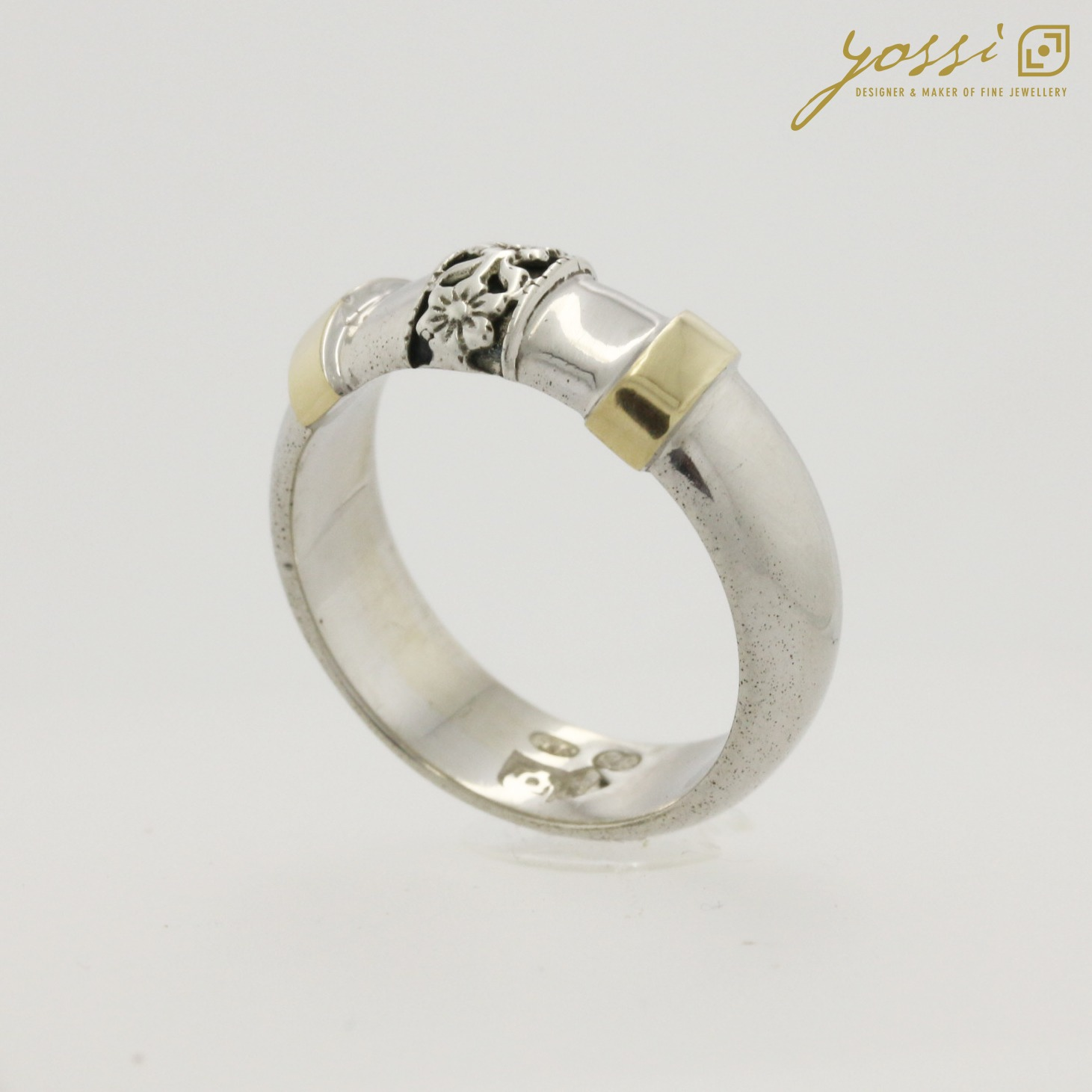 Decorative Silver & Gold Ring 5