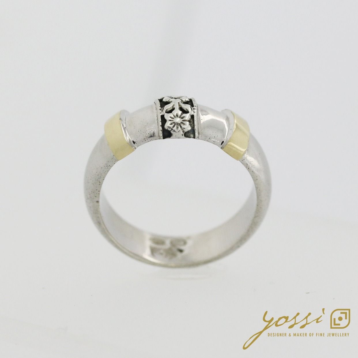 Decorative Silver & Gold Ring 6