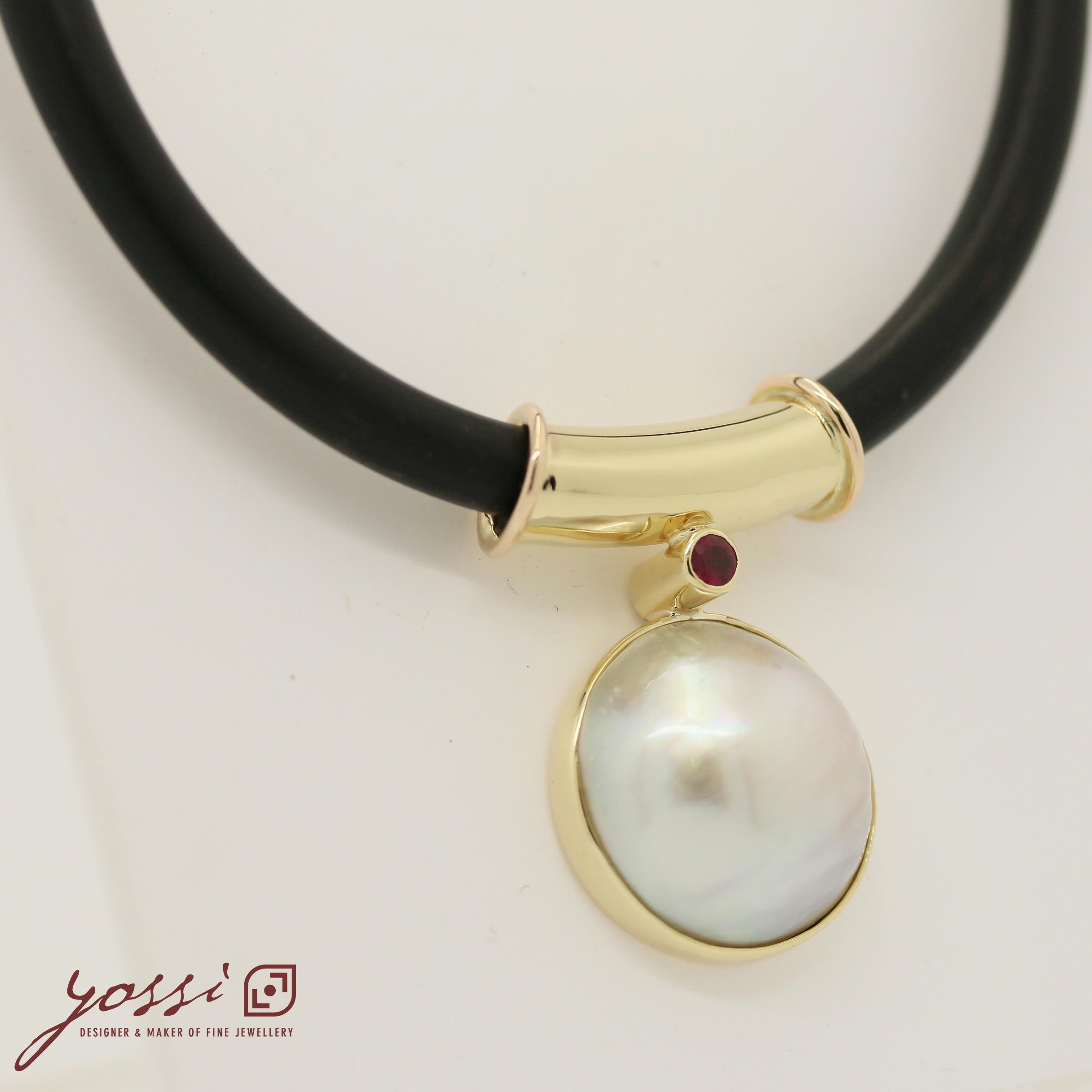 Royal Pearl Ruby & Diamonds Pendant 7