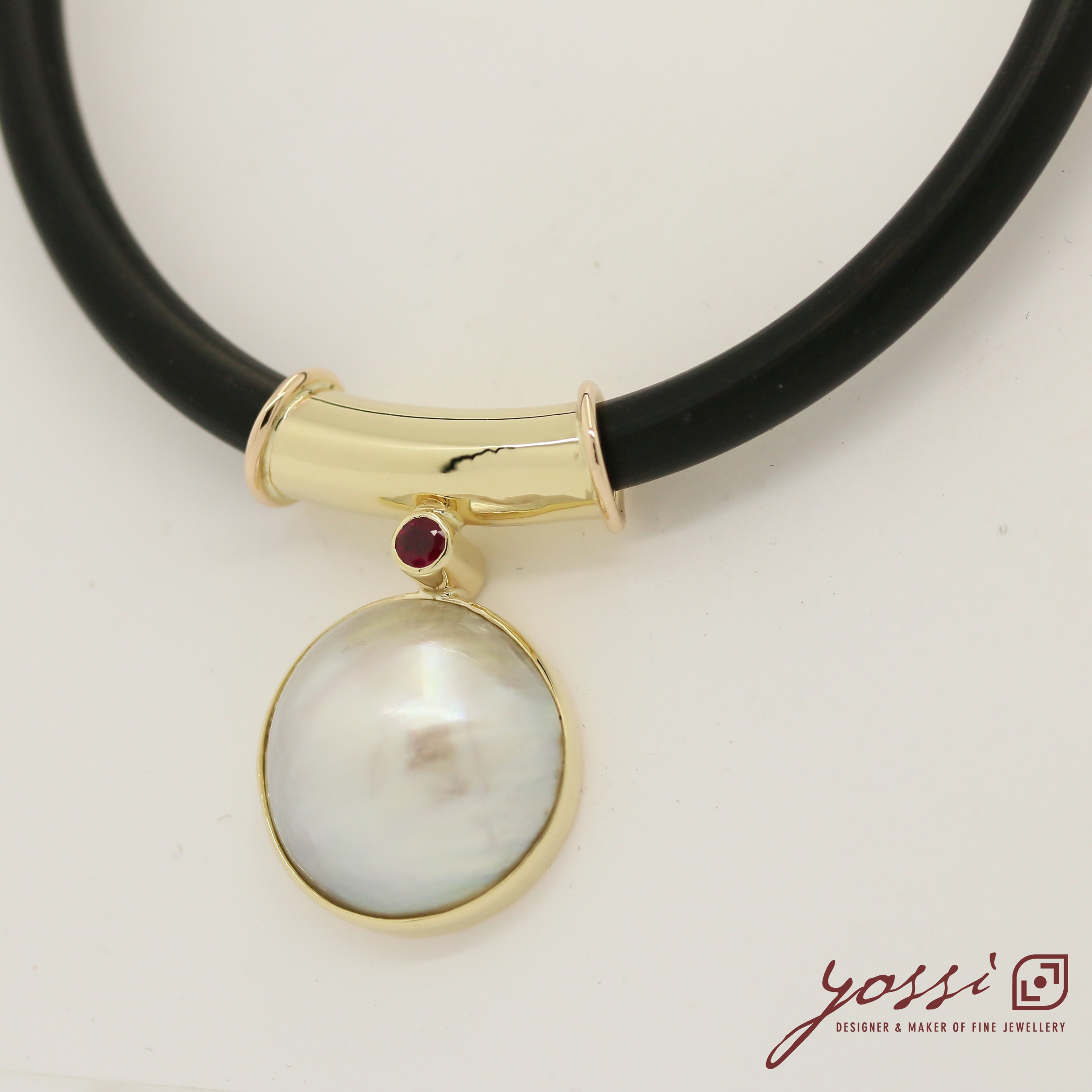 Royal Pearl Ruby & Diamonds Pendant 8