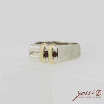 Shimmering Garnet Ring